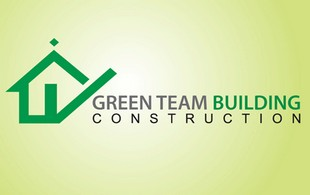 green team building construction logo