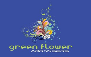 green FLOWER arrangers Logo