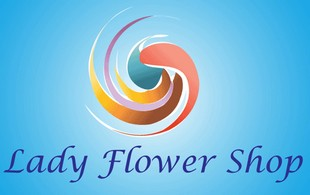 lady flower shop Logo