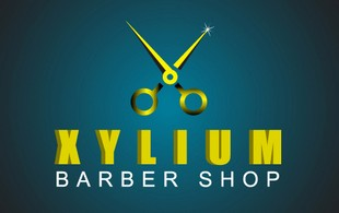 Xylium barber Shop Logo