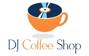 dj coffee shop logo