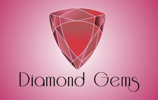 Diomond gems Jewelry Logo