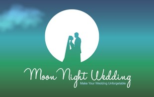 moon night wedding Logo