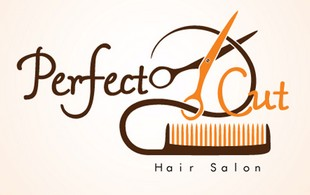perfect cut hair logo