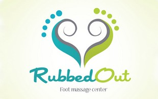 rubbed out Logo