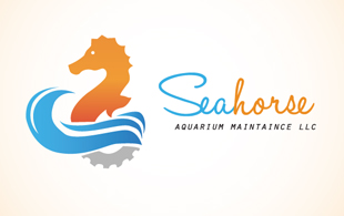 sea horse pet logo